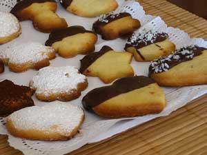 Pastas de Té o Galletas de Mantequilla.